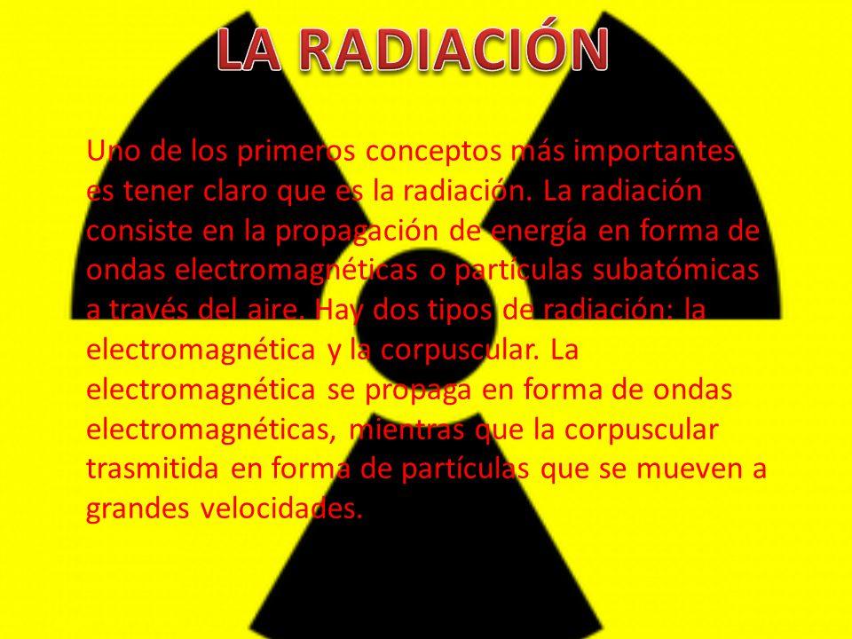 Uno de los primeros conceptos más importantes es tener claro que es la radiación. La radiación consiste en la propagación de energía en forma de ondas