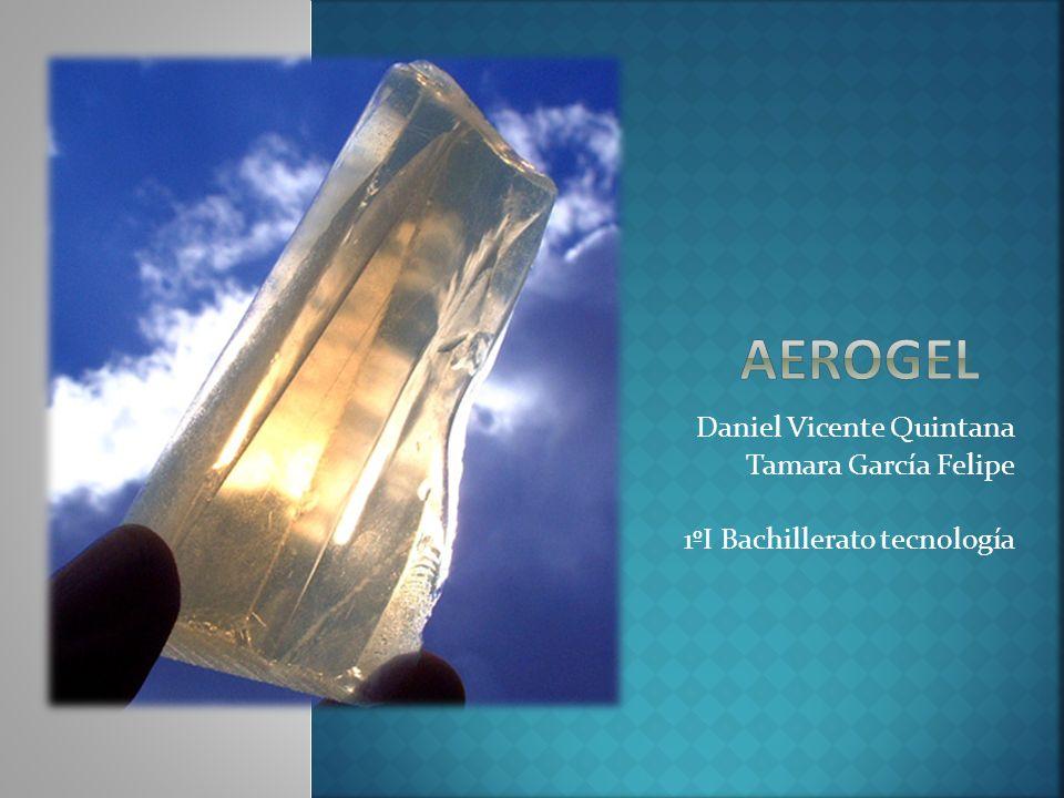 El aerogel es una sustancia similar al gel, en el cual el componente líquido es eliminado, obteniendo como resultado un sólido de muy baja densidad y altamente poroso.