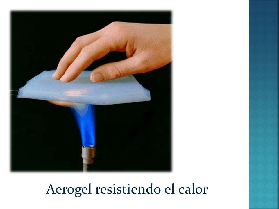 Aerogel resistiendo el frío