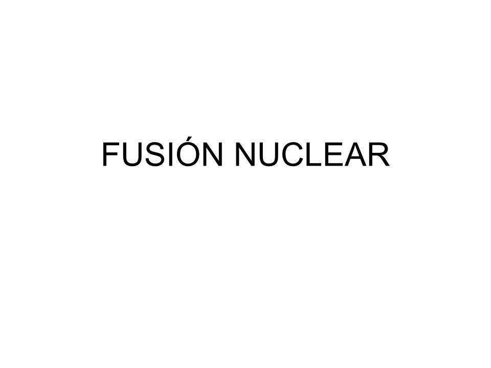 ¿Qué es la fusión nuclear.