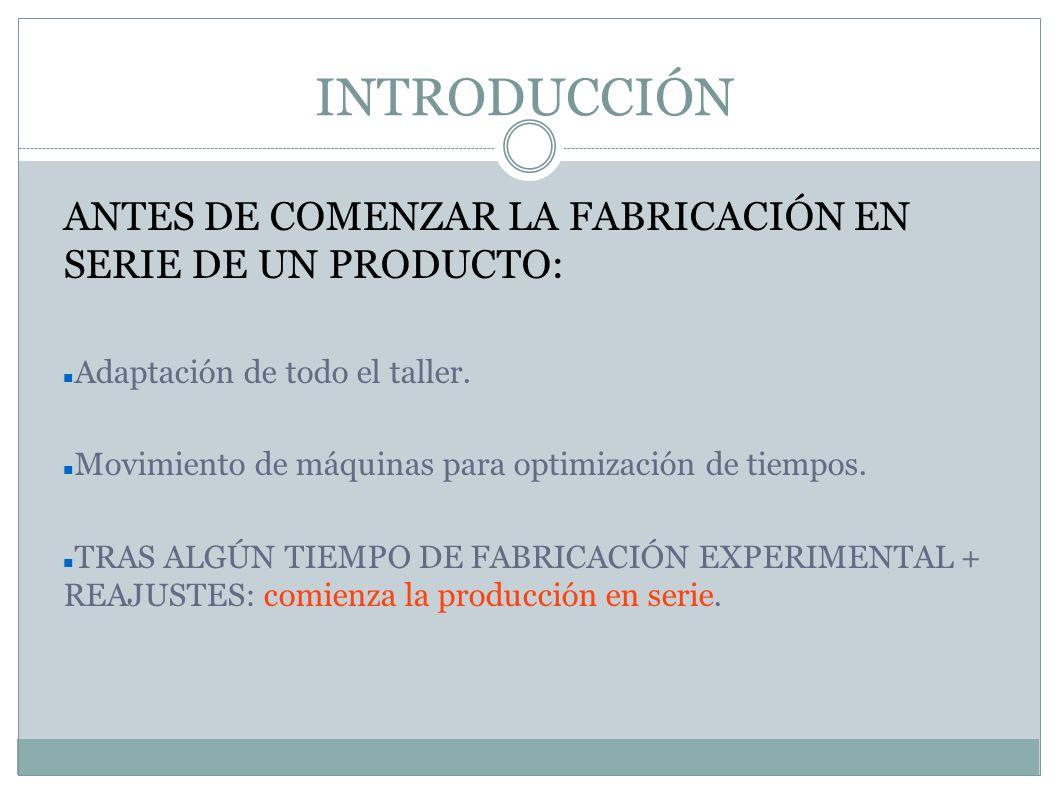 Fase 4: FABRICACIÓN DE PRODUCTOS Es necesario: Disponer de la materia prima para la producción.