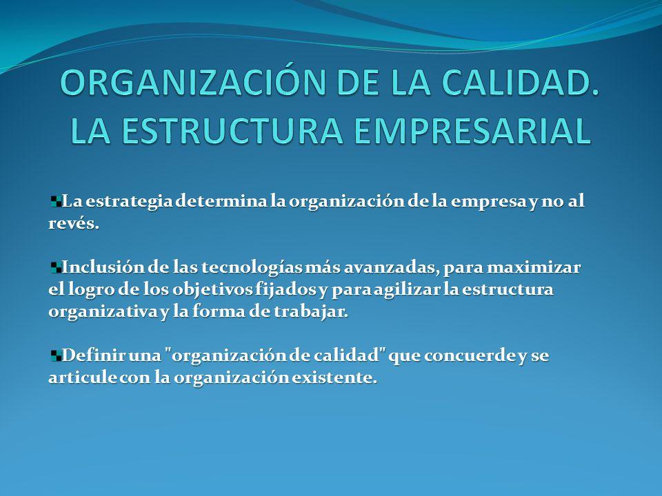 La estrategia determina la organización de la empresa y no al revés.