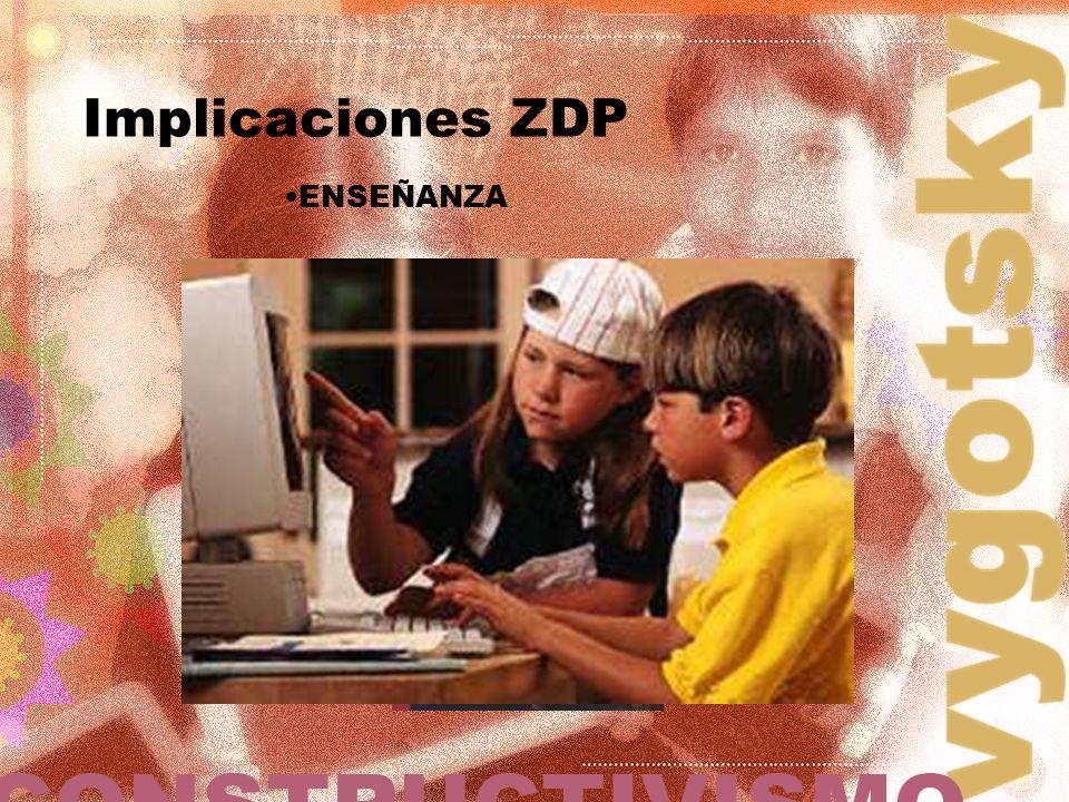 ENSEÑANZA Implicaciones ZDP