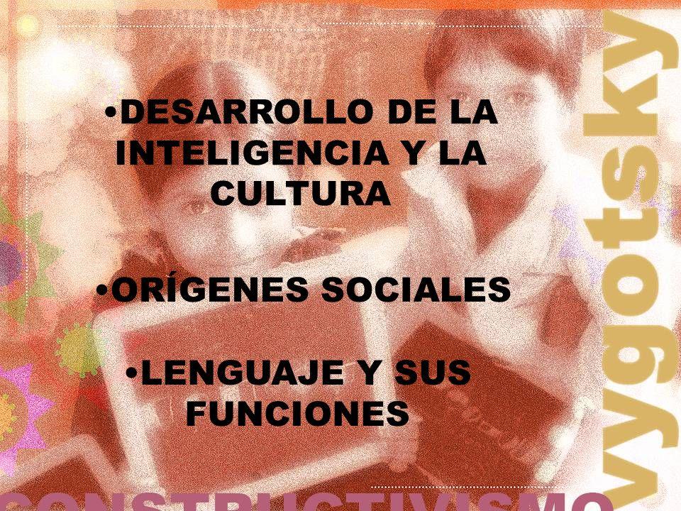 DESARROLLO DE LA INTELIGENCIA Y LA CULTURA ORÍGENES SOCIALES LENGUAJE Y SUS FUNCIONES