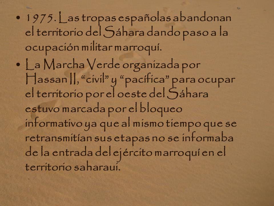 1973. Se forma el Frente Polisario, Frente de Liberación nacional, movimiento político y militar que defiende los derechos del pueblo saharaui.