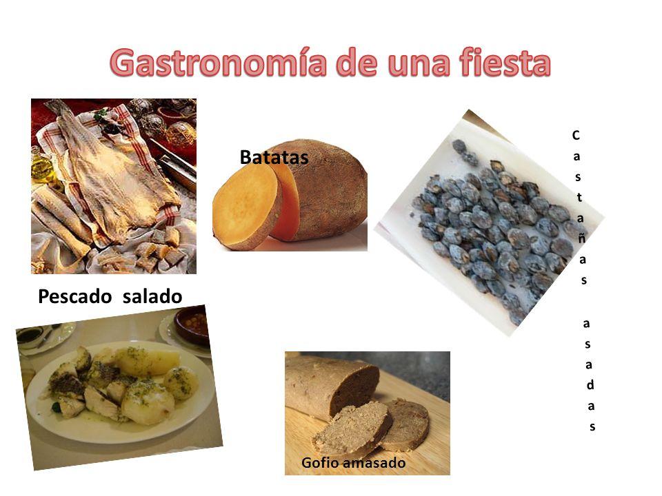 Pescado salado Batatas Gofio amasado