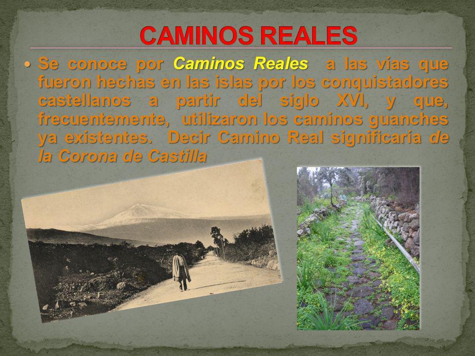 Se conoce por Caminos Reales a las vías que fueron hechas en las islas por los conquistadores castellanos a partir del siglo XVI, y que, frecuentemente, utilizaron los caminos guanches ya existentes.