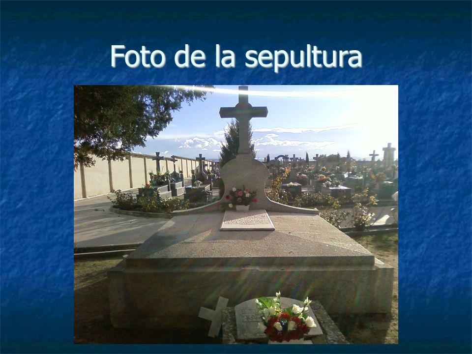 Foto de la sepultura