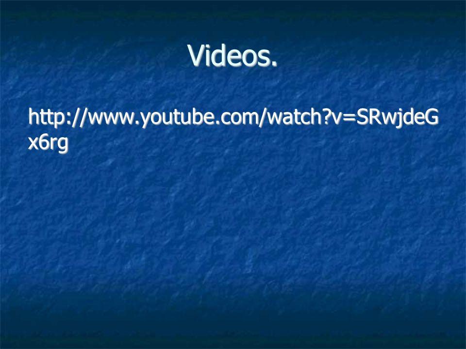 Videos. http://www.youtube.com/watch?v=SRwjdeG x6rg