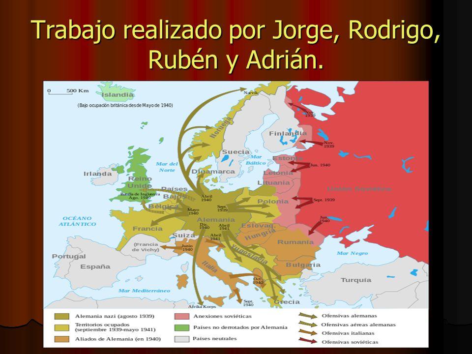 Trabajo realizado por Jorge, Rodrigo, Rubén y Adrián.