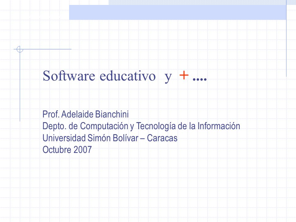 Software Educativo Definición general Agenda