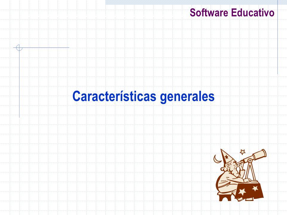 Software Educativo Características generales