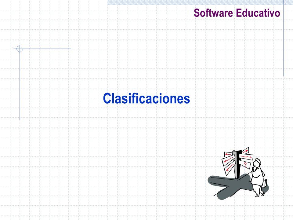 Software Educativo Clasificaciones