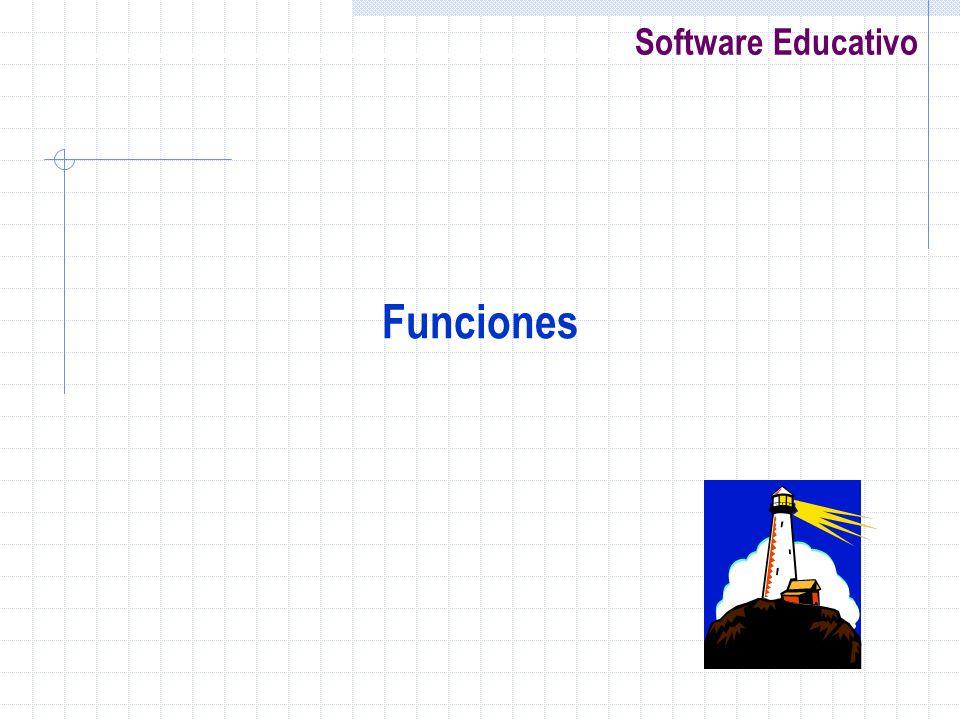 Software Educativo Funciones