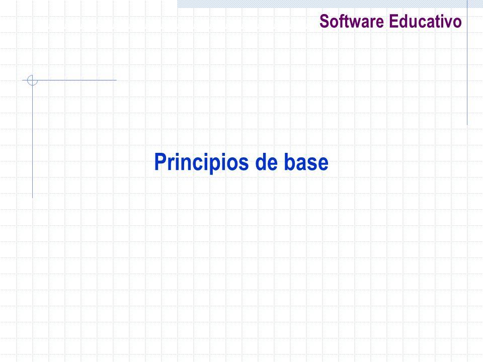 Software Educativo Principios de base