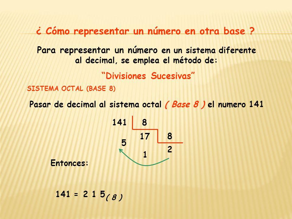 En un numeral toda cifra tiene un valor posicional, veamos un ejemplo: 215 3.