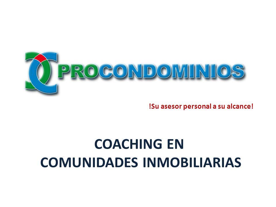COACHING EN COMUNIDADES INMOBILIARIAS !Su asesor personal a su alcance!