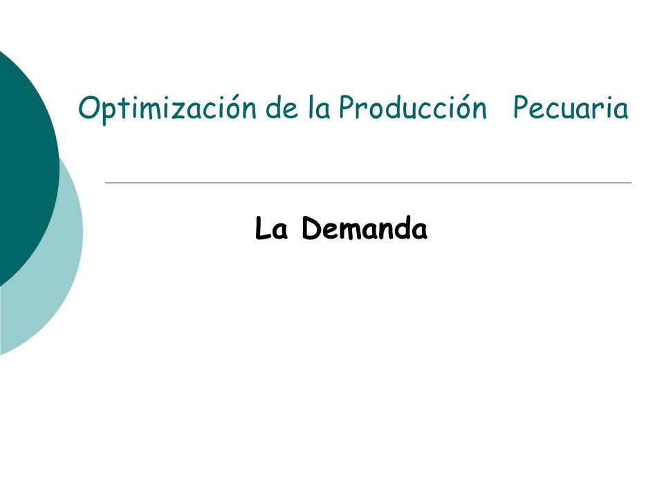 Optimización de la Producción Pecuaria La Demanda