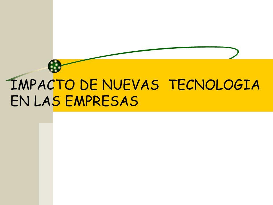 IMPACTO DE NUEVAS TECNOLOGIA EN LAS EMPRESAS