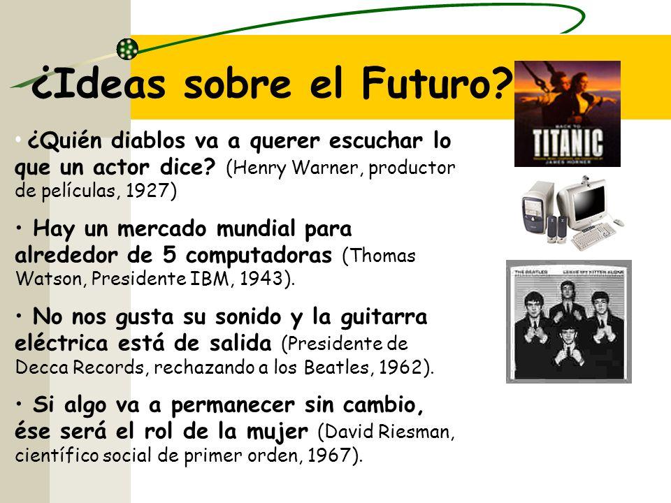 ¿Ideas sobre el Futuro.¿Quién diablos va a querer escuchar lo que un actor dice.