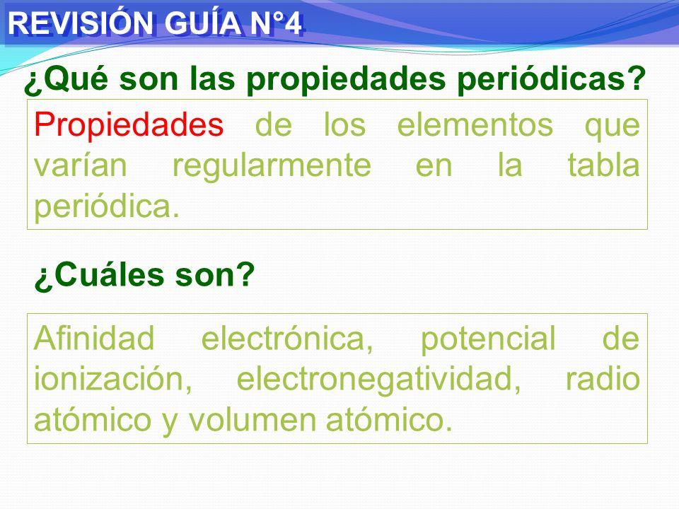 REVISIÓN GUÍA N°4 A) Electronegatividad: Tendencia o fuerza que posee un átomo, en una molécula, para atraer hacia sí electrones de enlace.
