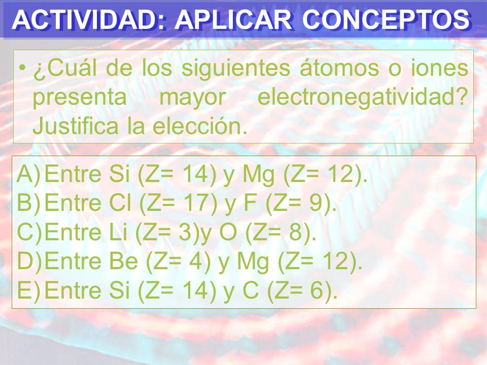PREGUNTA N°1 En un grupo o familia a medida que aumenta el radio atómico, se debe esperar que el volumen atómico: A)Aumenta.