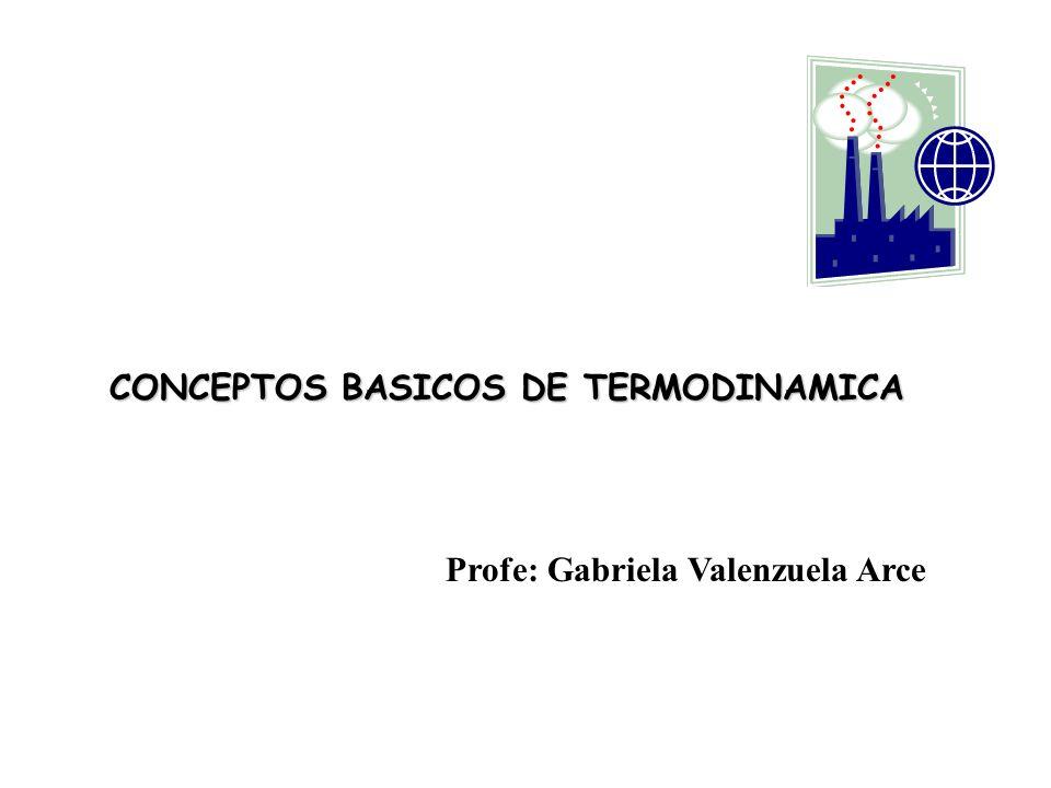 CONCEPTOS BASICOS DE TERMODINAMICA Profe: Gabriela Valenzuela Arce