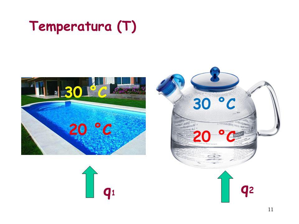11 Temperatura (T) 30 °C q1q1 q2q2 20 °C