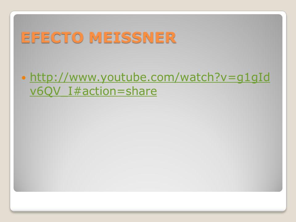 EFECTO MEISSNER http://www.youtube.com/watch?v=g1gId v6QV_I#action=share http://www.youtube.com/watch?v=g1gId v6QV_I#action=share