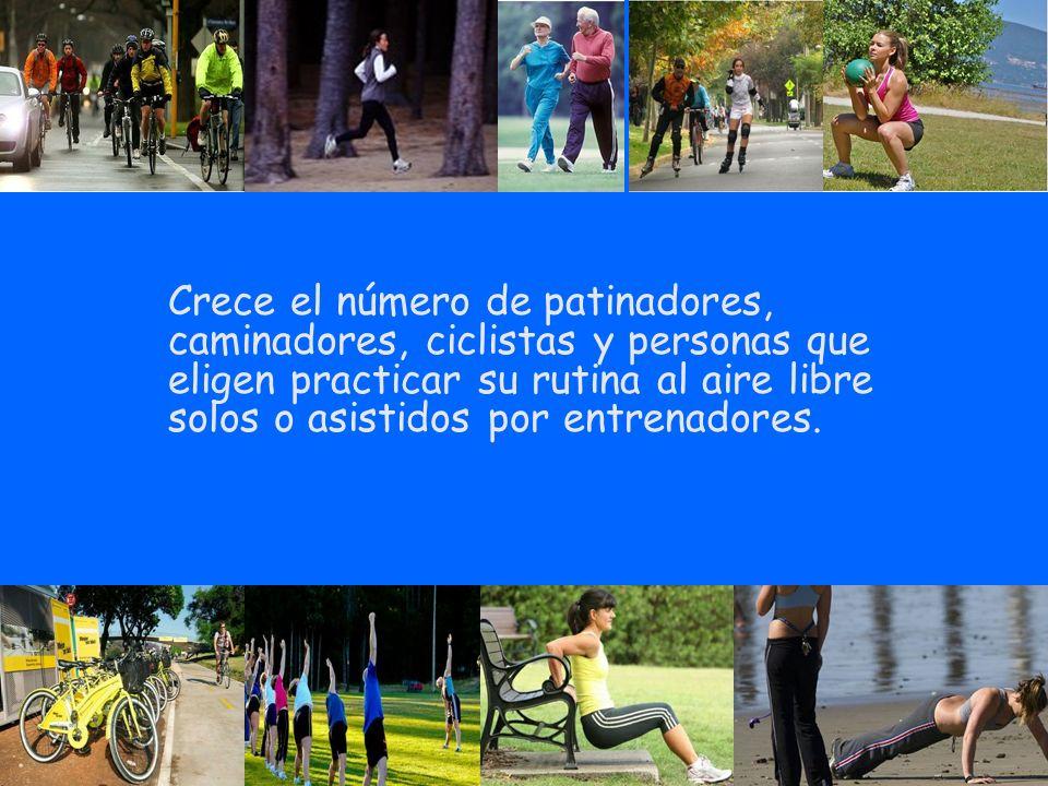 Crece el número de patinadores, caminadores, ciclistas y personas que eligen practicar su rutina al aire libre solos o asistidos por entrenadores.
