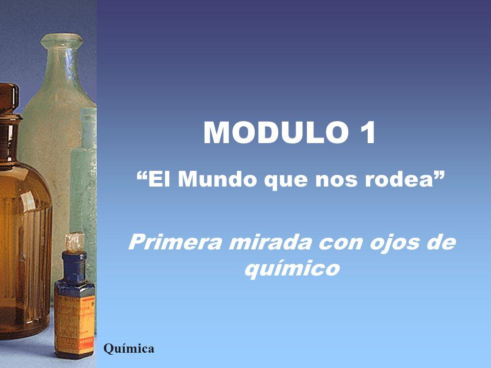 MODULO 1 El Mundo que nos rodea Primera mirada con ojos de químico Química