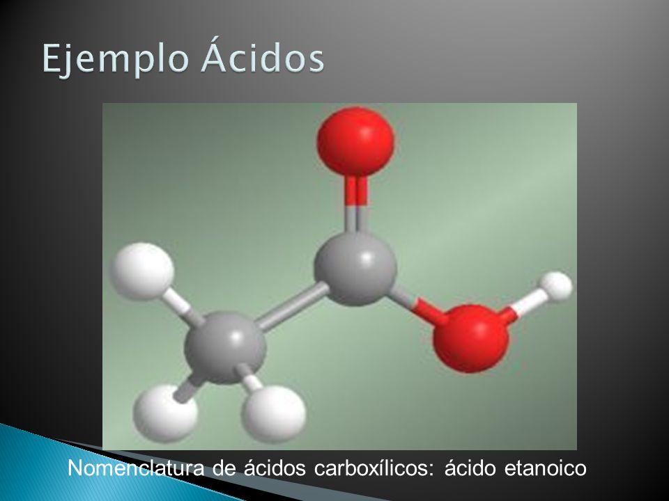 Nomenclatura de ácidos carboxílicos: ácido etanoico