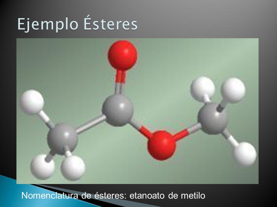Nomenclatura de ésteres: etanoato de metilo