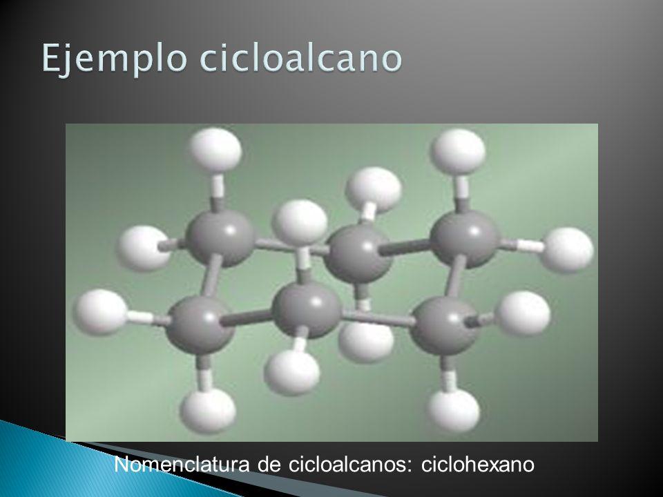 Nomenclatura de cicloalcanos: ciclohexano