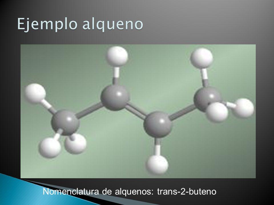 Nomenclatura de alquenos: trans-2-buteno