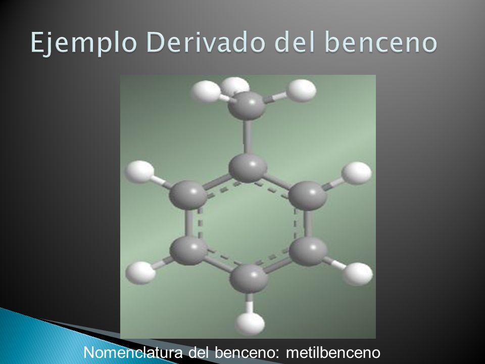 Nomenclatura del benceno: metilbenceno