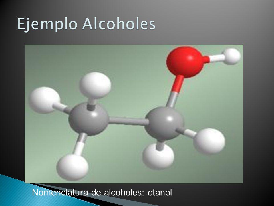 Nomenclatura de alcoholes: etanol