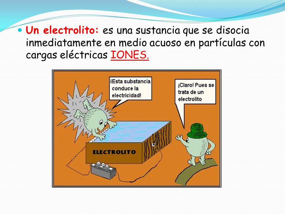 CONDUCTIVIDAD ELECTRICA Aquellas sustancias ( soluto) que en disolución acuosa son CONDUCTORES de electricidad se denominan Electrolitos y sus disoluc