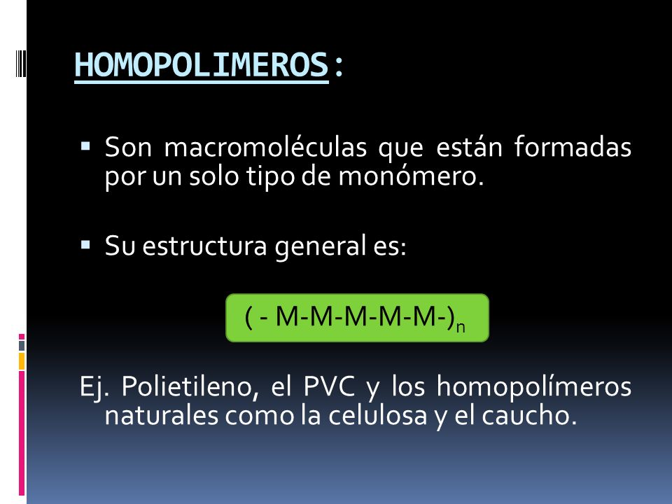 TAREA: BUSCAR LOS MONOMEROS DE LOS SIGUIENTES POLIMEROS E IDENTIFICAR LA FORMA DE POLIMERIZACION QUE UTILIZAN PARA SU FORMACION: 1.POLIETILENO 2.POLIESTIRENO 3.POLICLORURO DE VINILO 4.NYLON 5.Politetrafluoroetileno 6.DRACON (POLIESTER)