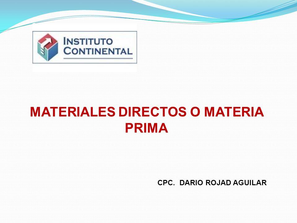 UNIDAD II ELEMENTOS DEL COSTO El costo de un artículo o producto se encuentra conformado por tres elementos: material directo, mano de obra directa y costos indirectos de fabricación.