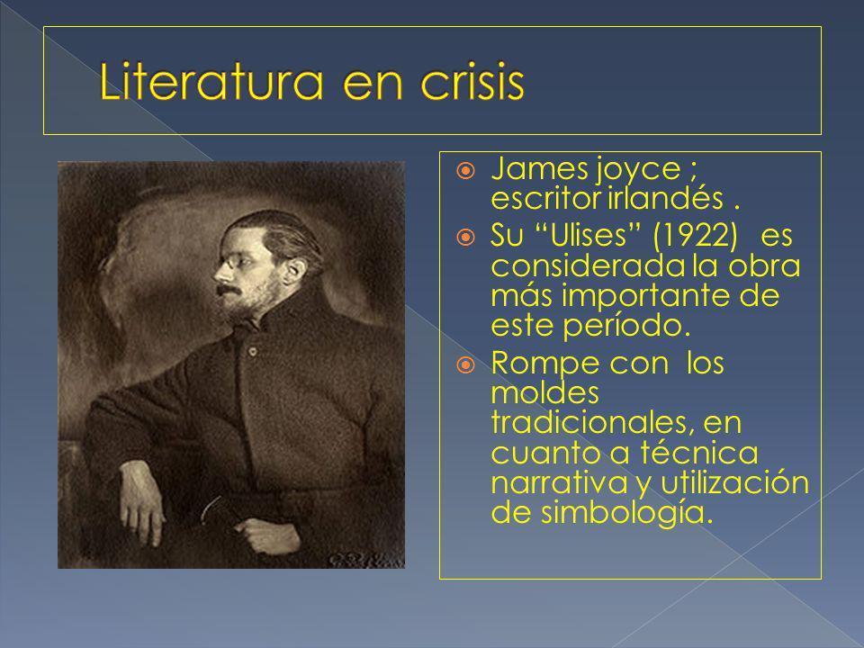 James joyce ; escritor irlandés.