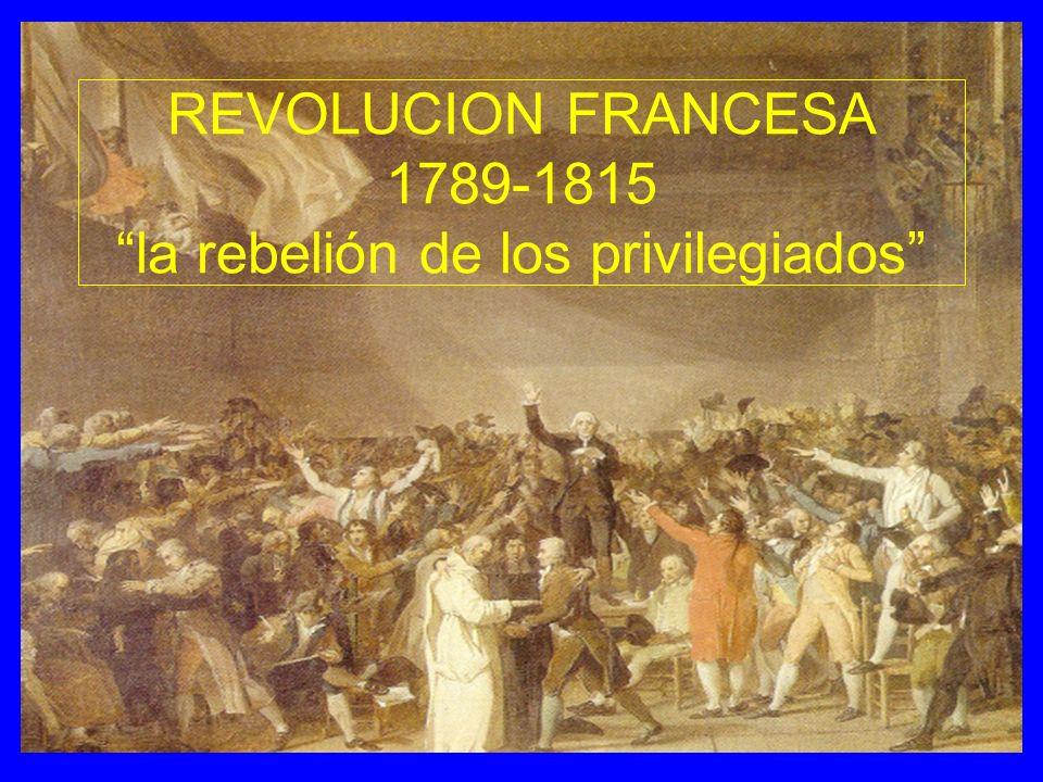 REVOLUCION FRANCESA 1789-1815 la rebelión de los privilegiados