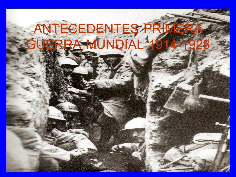 ANTECEDENTES PRIMERA GUERRA MUNDIAL 1914-1928