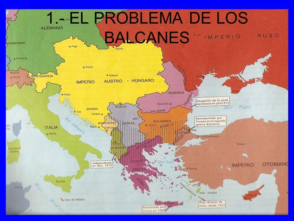 1.- EL PROBLEMA DE LOS BALCANES