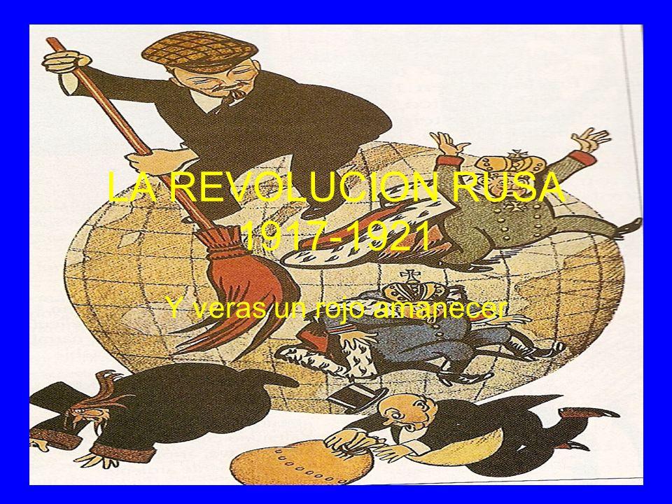 NACE LA UNIÓN SOVIÉTICA En 1922 las tropas rojas derrotan definitivamente a los blancos.