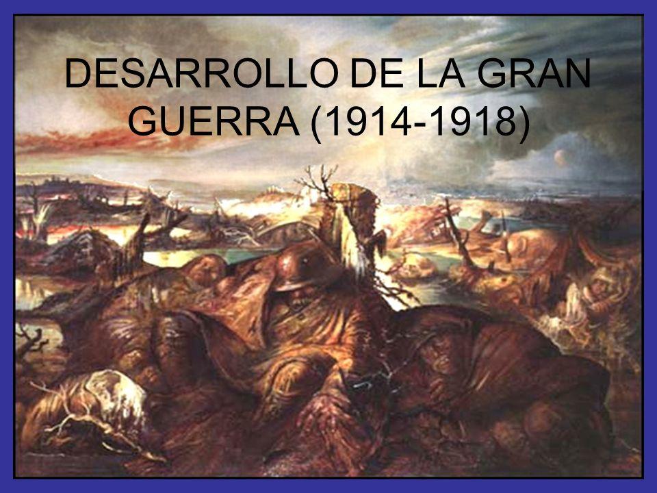 DESARROLLO DE LA GRAN GUERRA (1914-1918)