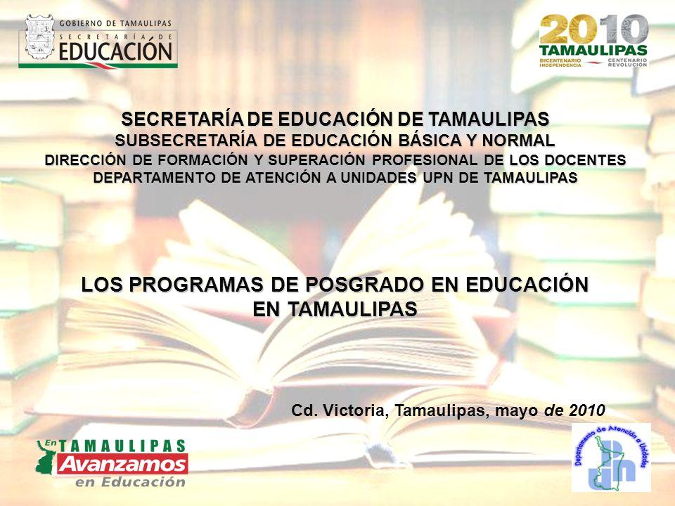 SECRETARÍA DE EDUCACIÓN DE TAMAULIPAS SUBSECRETARÍA DE EDUCACIÓN BÁSICA Y NORMAL DIRECCIÓN DE FORMACIÓN Y SUPERACIÓN PROFESIONAL DE LOS DOCENTES DEPAR