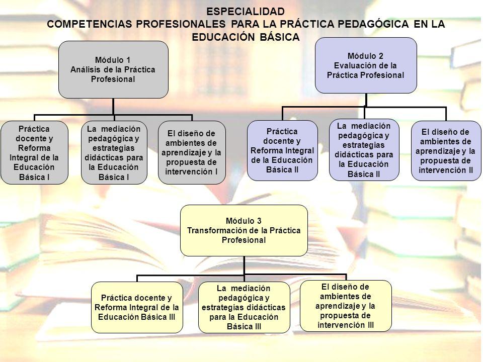 Módulo 1 Análisis de la Práctica Profesional Práctica docente y Reforma Integral de la Educación Básica I La mediación pedagógica y estrategias didáct