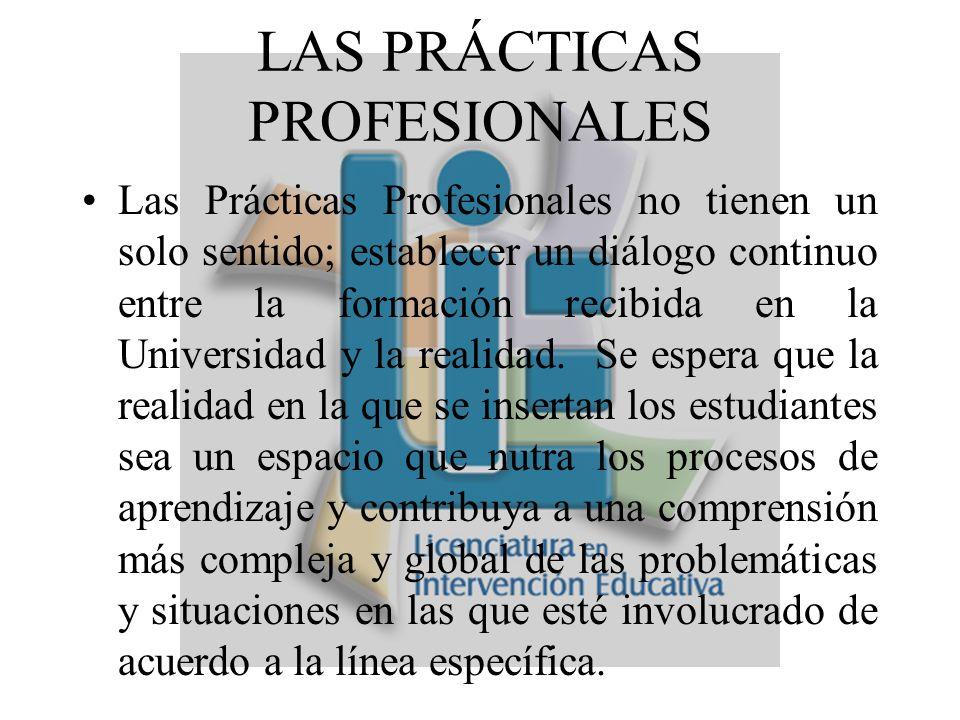 PAPEL DENTRO DE LA LICENCIATURA Este espacio ofrece condiciones similares a los ámbitos laborales con diferencia de que se trata de un ejercicio acompañado y supervisado desde el proceso formativo.