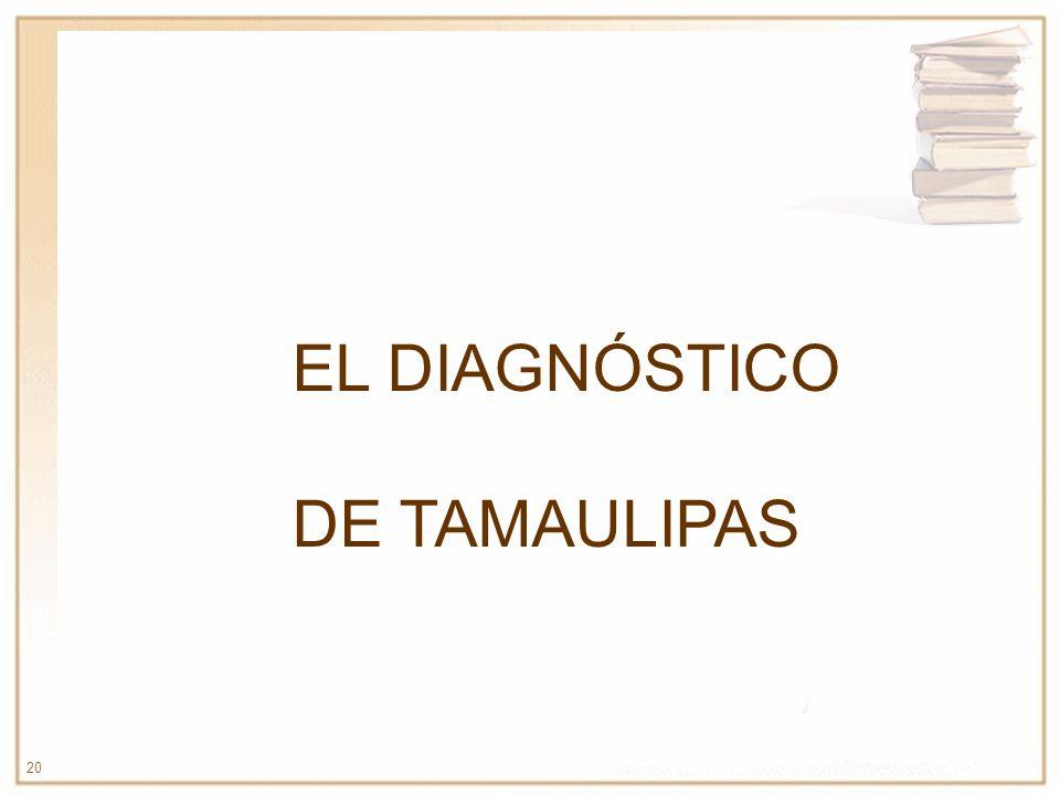 20 EL DIAGNÓSTICO DE TAMAULIPAS